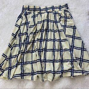 Lularoe Madison blue check skirt